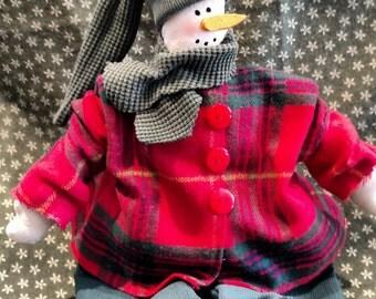 Snowman shelf sitter,snowman,Christmas decor,Winter decor,Country snowman,Rustic snowman