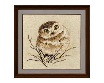 Cross stitch kit Little Owl