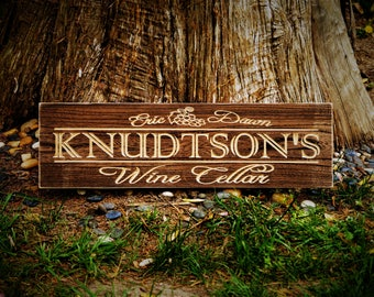 Wine Decor Wine Sign for Father Gift for Wine Lovers Wine Decor Custom Wine Sign Personalized Wine Sign Personalized Wood Wine Cellar Sign