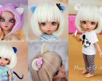 Mouse // Cat - Magnetic BJD parts commission. All sizes