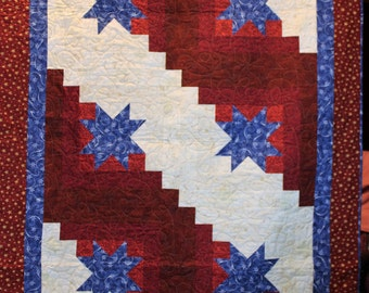 Orion's Star Patriotic baby quilt