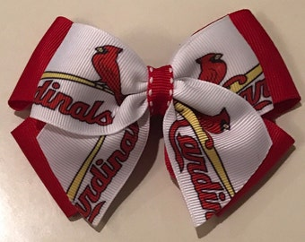Small St. Louis Cardinals Hairbow
