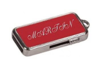 FATHERS DAY SALE 8Gb Red  Metal Usb Flash Drive with Keychain Drive Keyring, Flash Memory Drive, Mobile, Apple iMac, Mac, Windows Pc, Slim