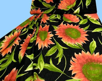 Exclusive cotton - VOILE sunflower of salmon