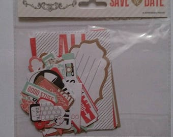 Teresa Collins Save the Date ephemera 41 pieces crafts scrapbooking