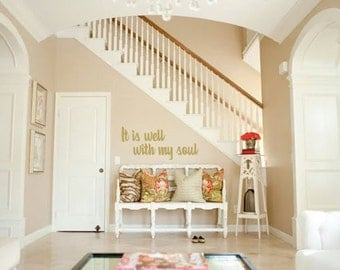 It Is Well With My Soul Vinyl Wall Decal, It Is Well With My Soul Wall Decal