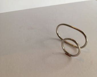 Stackable Sterling Silver Minimal Circle and Oblong Rings