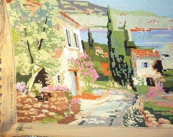 canvas finished finished tapestries landscape of the South of France by the sea