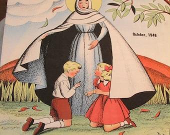 Two Mine Magazines for Catholic Kids, Vintage Children's Magazine, Illustrated Catholic Juvenile Magazine, Children's Publication, 1940s