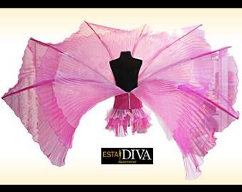 Organza Wing Corset - Ailette Plissée, Cabaret Wing Costume, Pleated Organza Costume, Cabaret Costume, Wing Costume, Organza Wing Costume