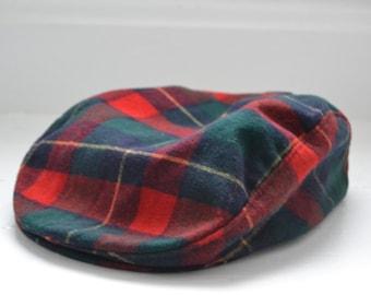 Pendleton Plaid Pure Virgin Wool Newsboy Hat