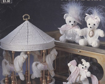 Victorian Ponies & Bears, Southmaid Crochet Pattern Book 2414 Rocking Horse Carousels Teddy Bears and More!