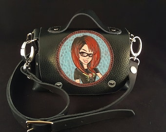 Leather Suchi Purse, Handbag, Small Handbag,