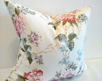 Country Cottage pillow, Floral pillow, flowers pillow cover, flowers throw pillow, country cottage decor, roses cottage decor, country decor