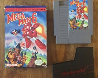 Mega Man 6 NES Game with original box and sheath