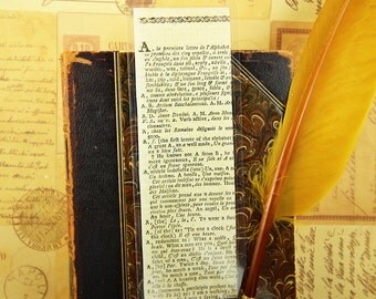 BOOKMARK - French Dictionary 1785