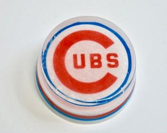 Chicago Cubs Soap, Natural Handmade Soap, Glycerin Soap, Baseball Soap, Sports Soap, Cubs Soap, Gift soap for men or women, 3.75 oz