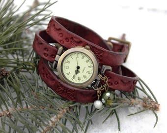 Leather Watch, Bracelet Watch, Friendship Gift, Wrist Bracelet, Women Watch, Wrap Watch, Wrap Bracelet, Wrist Watch Woman, Watches For Women