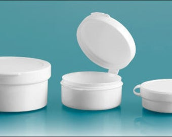 Hinge Top Containers, White Pill Pods (4)