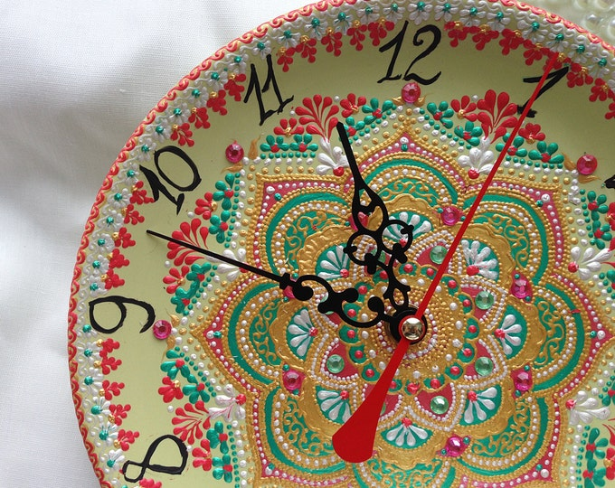 Unique wall clock, unusual wall clock, wall clock design, handmade wall clock, table clock, decorative wall clock, mantel clock, handcrafted