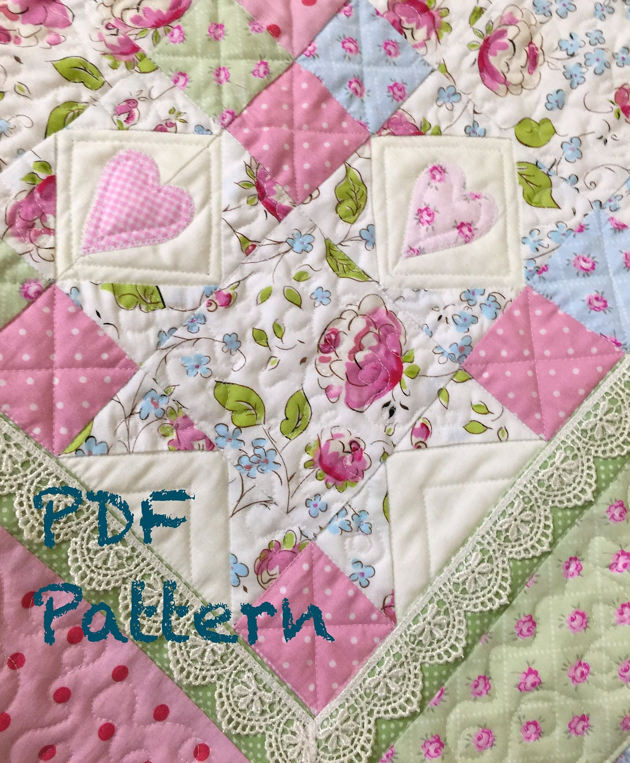Ruffle Baby Quilt Pattern, Lace Quilt pattern, baby ...