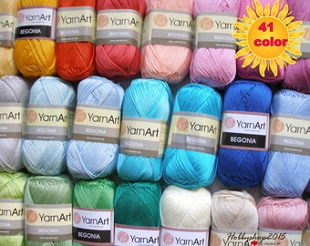 100 %  Mercerized cotton  yarn  crochet yarn Yarnart begonia  high quality  perfect yarn for knitting toys clothes eco  yarn wholesale