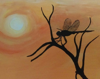 Dragonfly silhouette. Home decor. Dragonfly love. Fun art.