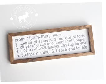 Brother Definition Sign // Brother Sign // Nursery Sign // Nursery Decor