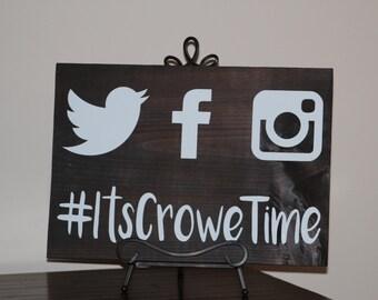 Social Media Wedding Hashtag Sign - Custom Wooden Wedding Sign