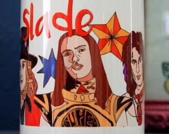 Slade - Mug, Glam rock, Wolverhampton, Tea, Coffee, Stars, Pop art