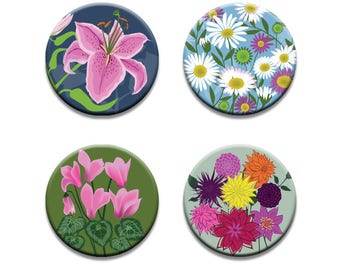 A pack of 4 Alison Bick Artist coastal garden flowers design Pattern weights fabric weights No need for pins