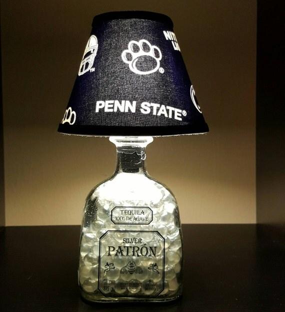 Handmade LED Penn State Nittany Lions vs. Patron Tequila Liquor Bottle Lamp