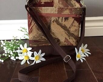 Vintage Brown Small/Medium Serendipidy Hip Cross Body-Ajustable Strap-Bag//Purse