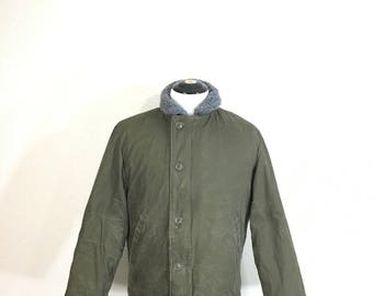 70's vintage civilian N-1 deck jacket khaki military coat