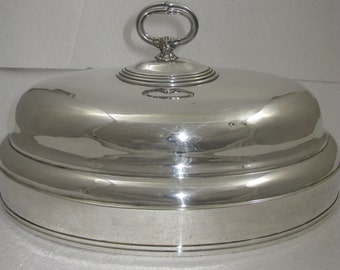Stunning Circa 1900 Christofle French Silver plated Meat Dome Cover