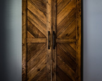 Cypress Chevron Barn Door(s)