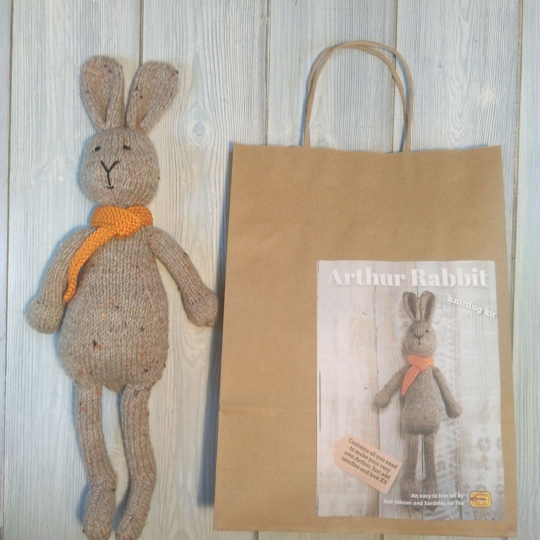 Knit Rabbit Sweater Pattern : Arthur rabbit knitting kit make your very own bunny