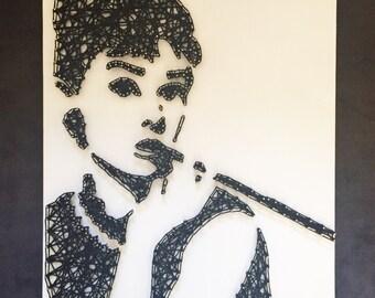 Audrey Hepburn String Art - Holly Golightly - Breakfast At Tiffany's - Audrey Hepburn Wall Art - Ready to ship