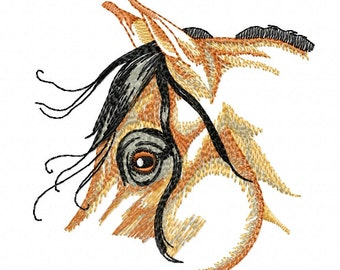HORSE HEAD SKETCH - Machine Embroidery Design