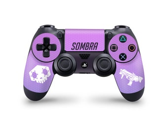 PS4 Overwatch Sombra controller skin wrap custom decal sticker