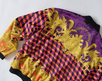 Versace Jeans vintage bomber jacket baroque print geometric