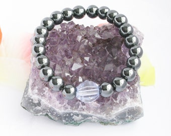Bracelet hematite 8mm Unisex man and woman
