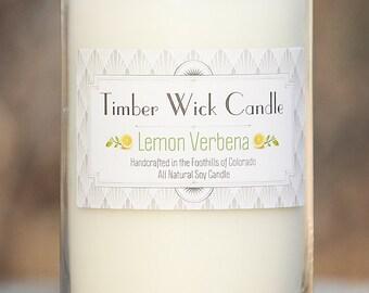 Lemon Verbena | 16-Ounce Soy Candle with Cedar Wick