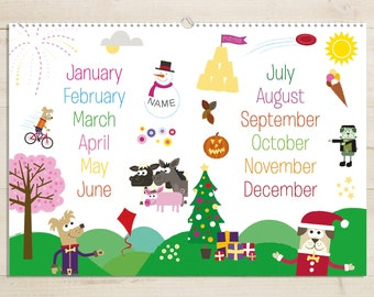 Months of the Year Activity BookA4