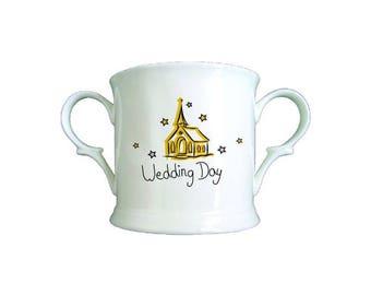Church Wedding Day Bone China Loving Cup