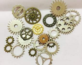 Steam punk, silver gears, gears, supply, silver, gears, steampunk supply, craft supply,dyi, bronze gears, punk