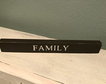 "Family word block 12""X1"""
