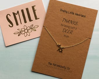 Pretty Little Necklace - Thanks For Being Such A Deer Mum