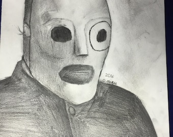 Corey taylor-graphite colored pencil on paper