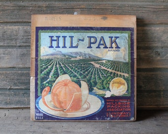 Hil-Pak Brand wooden crate side